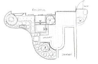 Landscape Design - Pencil Sketch