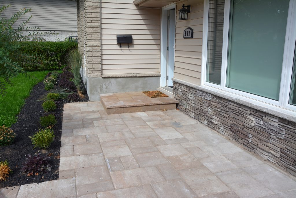 Stone Facing on House