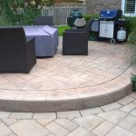 Curved Raised Interlocking Stone Patio
