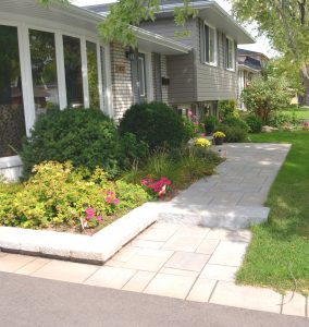 Interlock Stone Walkway with Steps