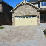 Interlocking Stone Driveway with Stone Borders