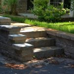 Interlocking Stone Steps & Retaining Wall