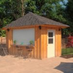 Wood Cabana Construction by Earthworks Landscaping